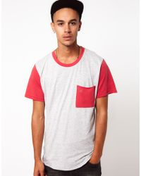 KR3W Tshirt with Contrast Pocket - Red