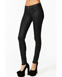 Nasty Gal Coated Skinny Jeans - Lyst