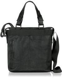 Porsche Design - P Black Leather Tote - Lyst
