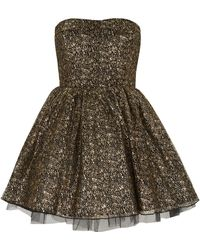 Topshop Ballerina Dress By Oh My Love gold - Lyst