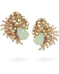 Bijoux Heart - Trellis Goldplated Swarovski Crystal Clip Earrings - Lyst