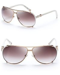 Dior Chicago Metal Aviator Sunglasses With Crystals - Lyst
