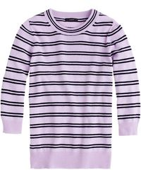 J.Crew Collection Cashmere Tippi Sweater in Stripe - Lyst