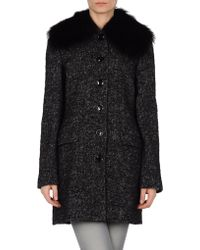 Dolce & Gabbana Coat gray - Lyst