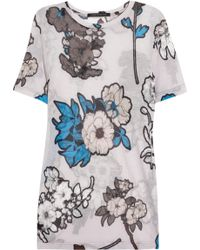 Christopher Kane Floralprint Jersey Tshirt - Lyst