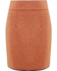 Commuun   Orange Tweed Wool Skirt   Lyst
