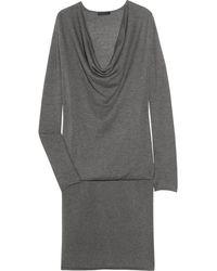 Donna Karan New York Cow Neck Cashmere Dress - Lyst