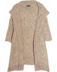 Donna Karan Oversized Hooded Cashmere Cardigan - Natural