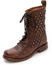 Frye - Jenna Lace Up Boots - Lyst