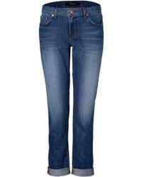 J Brand - Zen Blue Aidan Boyfriend Jeans - Lyst