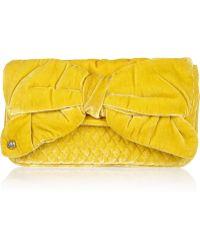 Juicy Couture Velvet Clutch - Yellow