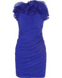 Notte by Marchesa Stretch Silk Chiffon and Silk Organza Dress - Lyst