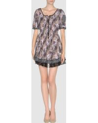 Odd Molly Purple Short Dress - Lyst