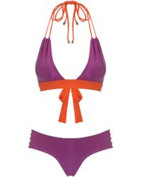 Roksanda Ilincic Fuchsia and Orange Dalila Bikini - Lyst