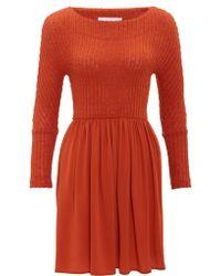 Thakoon Addition Terracotta Jumper Dress - Lyst