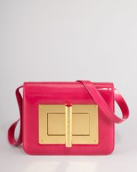 Tom Ford Natalia Medium Hot Pink Patent Shoulder Bag - Lyst