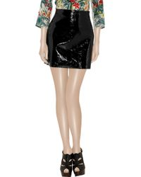 Willow - Crinkled Patentleather Mini Skirt - Lyst