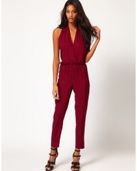 ASOS Collection Asos Sexy Halter Jumpsuit - Lyst
