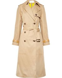 Chloé Cottontwill Trench Coat beige - Lyst