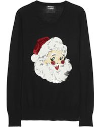 Markus Lupfer Santa Claus Sequined Merino Wool Sweater - Lyst