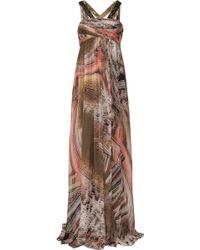 Matthew Williamson Agate Silk Chiffon Gown - Lyst