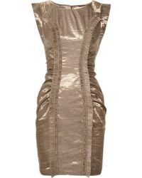 Matthew Williamson Linen Sateen Dress - Lyst