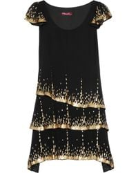 Project D - Party Sequinembellished Silkgeorgette Dress - Lyst