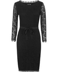 Jigsaw Jigsaw Lace Fitted Dress Black