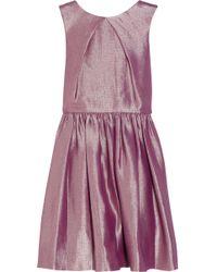 Mulberry Metallic Jacquard Dress - Pink