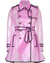 RED Valentino Clear Petunia Raincoat black - Lyst