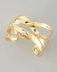 Alexis Bittar Bel Air Druzy Ribbon Cuff Bracelet - Lyst