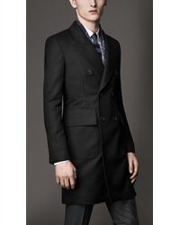 Burberry Tailored Wool Top Coat - Lyst