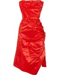 Vivienne Westwood Gold Label Corseted Silk Taffeta Dress - Lyst