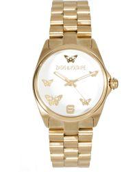 Zadig & Voltaire - Gold Butterfly Bracelet Watch - Lyst