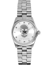Zadig & Voltaire - Silver Skull Bracelet Watch - Lyst