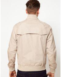 Ben Sherman Harrington Jacket - Natural