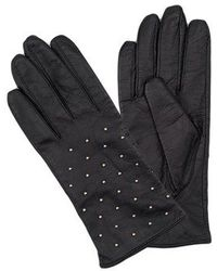 French Connection - Studded Leather Gloves - Lyst