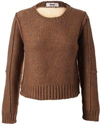 Acne Studios Glenys Alpacawool Sweater with Mesh Back - Lyst