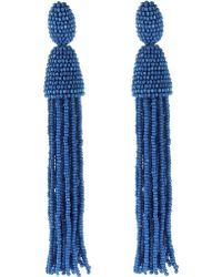 Oscar de la Renta Long Tassel Earring blue - Lyst