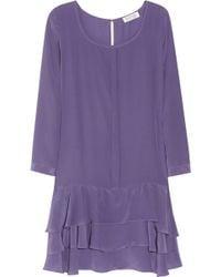 Borne by Elise Berger Maximilian Silk Dress - Purple