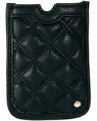 French Connection Oxford Quilted Phone Case - Blue
