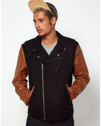 Wesc Leather Biker Jacket - Black