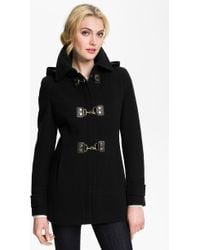 Calvin Klein Hooded Toggle Coat - Lyst