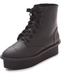 Cheap Monday | Form Lace Up Boots | Lyst
