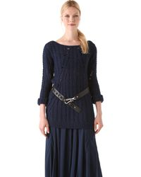 Donna Karan New York Long Sleeve Top - Lyst