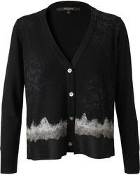 Horiyoshi III Printed Merino Wool Cardigan - Black