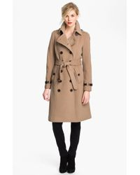London Fog Double Breasted Wool Blend Trench Coat Online Exclusive - Lyst