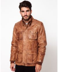 Pepe Jeans Pepe Heritage Leather Jacket - Brown