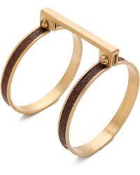 A.L.C. Exotic Handcuff Bracelet gold - Lyst