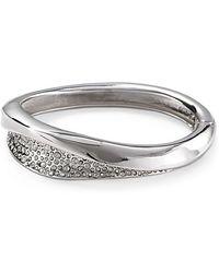 Alexis - Bittar Bel Air Rhodium Druzy Wave Hinge Bracelet - Lyst